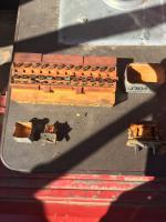 1970 1/2 year Bakelite Mera fuse block common crack.