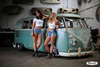 Van & Girls In SHort SHorts