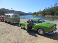 "Kathy wither her 1971 Ghia on the ""Deutschland Driver's"" Cruise"