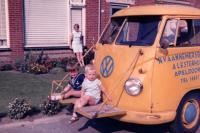 Single Cab Work Truck Riding Platform Apeldoorn Holland Netherlands Vintage Photo