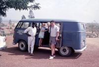 RHD Dove Blue Pressed Bumper Kombi Semaphores Provincial Secondary School Kuru Nigeria Vintage Photo