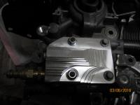 billet oil pump cover, clears mustache bar, type-3 or bay bus
