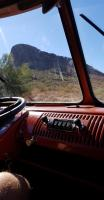 1961 Double Cab dash shot of hill