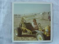 Girl driving sand rail