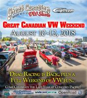 great canadian vw show 2018!! aug 10/11/12
