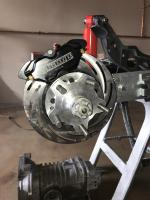 Rear four piston caliper brakes from RLR manufacturing