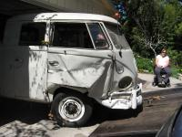 Before and After accident 1962 Double Cab (head on)