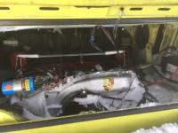 Snow in engine bay