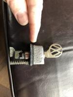 Door handle push button