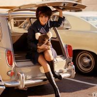 L620 Savannah Beige Squareback Playboy Playmate Nancy McNeil Miss July 1969 Vintage Photo