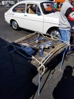 Disassembled roof rack