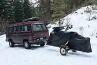 Vanagon with snowbike