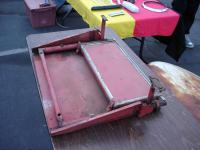Ambulance step - cargo door, belly pan style