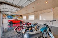 356 mural seen in 11-car garage of house for sale in Phoenix, AZ area