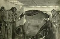 Early VW factory paint process