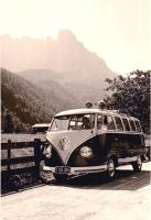 VW T1 mountains