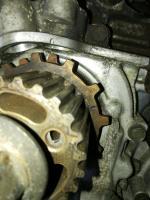 SVX crank reluctor timing belt marks