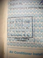 Roland Willis VW stamp
