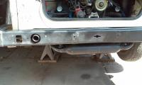 Replace broken exhaust stud and test fit Tri Mil exhaust.