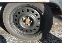 mercedes spare wheel 17x7 on a bus