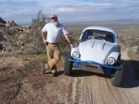 DustyMojave with his semi famous '58 Baja Bug