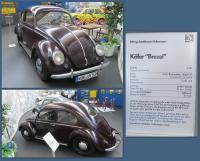 1951 Bug at the Stiftung AutoMuseum Volkswagen in Wolfsburg, Germany