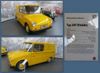 Postal Typ 147 at the Stiftung AutoMuseum Volkswagen in Wolfsburg, Germany