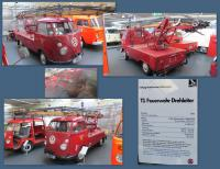 1963 Split-Window fire  rotating ladder truck at the Stiftung AutoMuseum Volkswagen in Wolfsburg, Germany