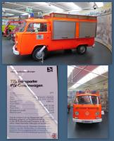 1979 Bay-Window bus emergency vehicle at the Stiftung AutoMuseum Volkswagen in Wolfsburg, Germany