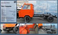 """1973 """"Basis-Transporter"""" Front engine, RHD at the Stiftung AutoMuseum Volkswagen in Wolfsburg, Germany"""