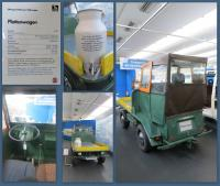 """Rear-driven 1973 """"Plattenwagen"""" at the Stiftung AutoMuseum Volkswagen in Wolfsburg, Germany"""