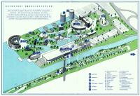 """Map of the VW """"Autostadt"""" (non-factory part) in Wolfsburg"""