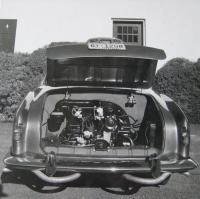 Ghia 36hp engine photo with altered exhaust