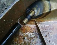 Vanagon Gas tank - cut open