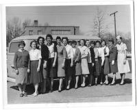 1964 photos of Bus and Red Cross volunteers