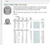 copper exhaust nuts