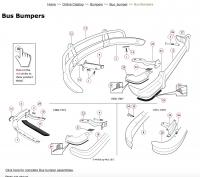 WW Bumper exploded assembly.