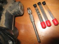 drills to remove steering lock pin with drill holder