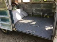 1967 13 window deluxe vw bus - painting the passenger floor
