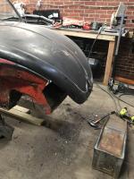 Rust repair spare fender