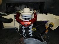 Vanagon 2wd Burley upper control arm full suspension rebuild moog undercarraige sandblast