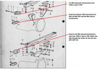 411/412 transmission tail mountings and frame