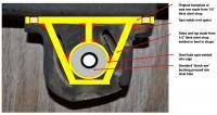 411/412 trans hanger bushing replacement fabricated part