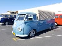 Dove Blue Single Cab with hoops and canvas