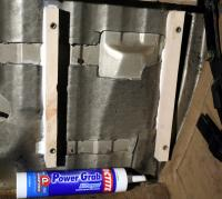 Mounting a future electronics panel beneath the rear bench seat
