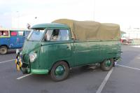 Green Single Cab with hoops and canvas