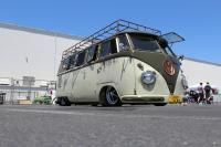 Volksfab lowered Palm Green Sand Green Bus