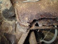 Pick-up front frame rust