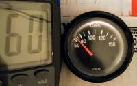 Oil temperature gauge and sender test