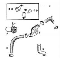 Heater Blower, Hoses & Air Channel Parts